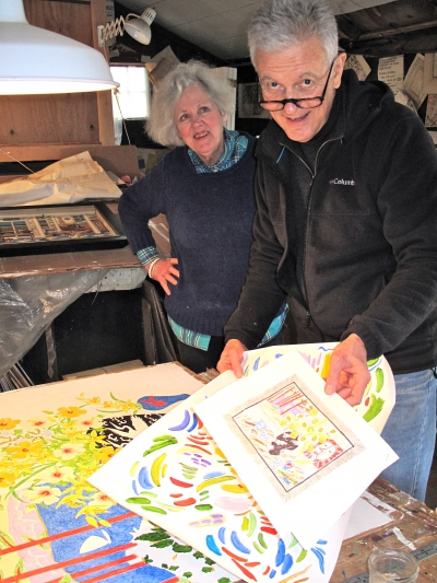 Roger Sandes and Mary Welsh foster a creative environment for their artwork.