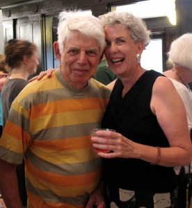 The Brattleboro Museum and Art Center maintains close ties with New York City through its curator, Mara Williams, shown here with artist Wolf Kahn.