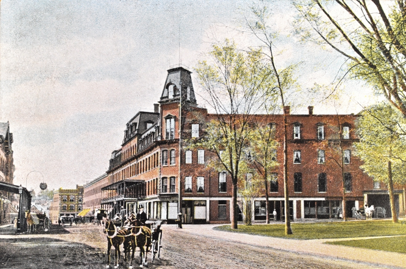 The Brooks House in the horse-and-buggy era