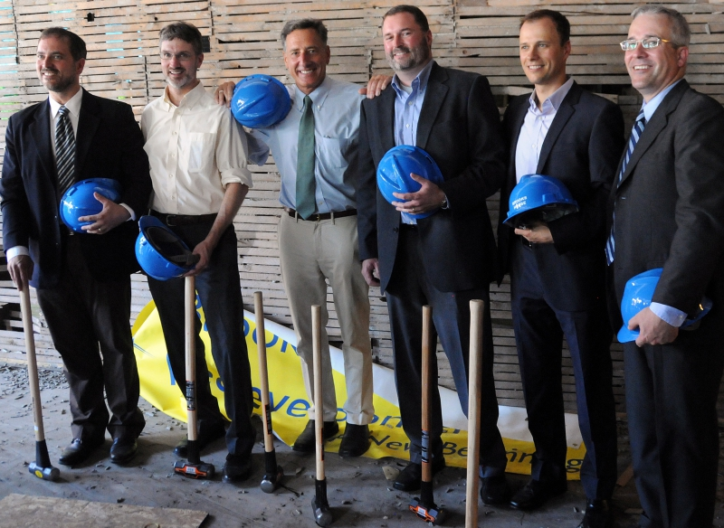 Brooks House principals at the formal groundbreaking with Governor Peter Shumlin