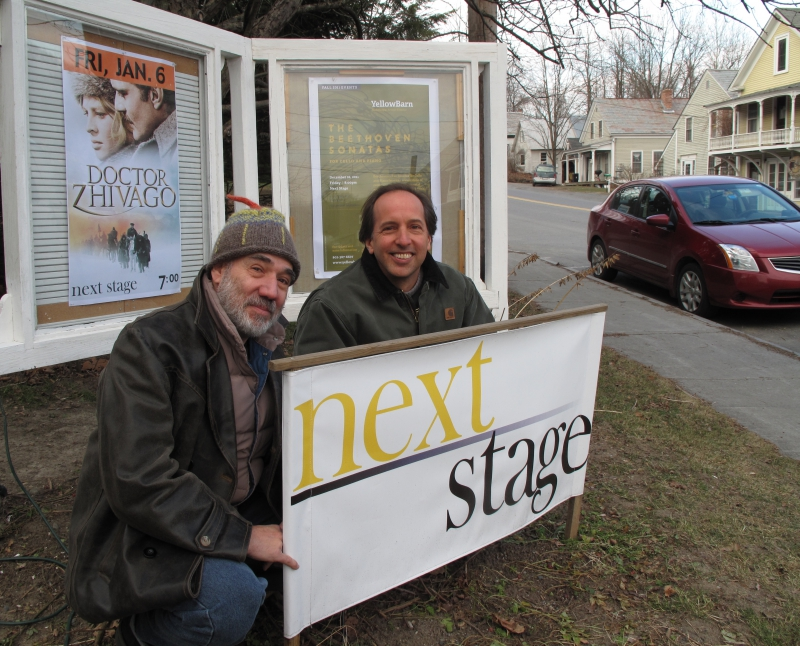 Eric Bass and Billy Strauss, two of the figures instrumental in the rebirth of the Putney Meeting House as NextStage Arts