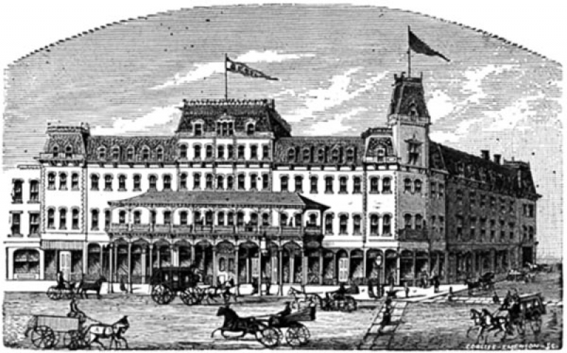 The Brooks House during its early days as a fashionable hotel