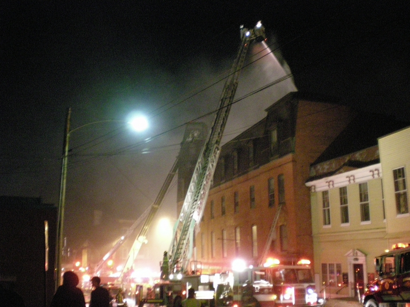 The night of the disastrous fire
