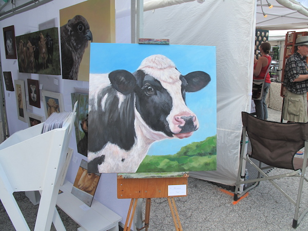 Artist Caryn King's booth at the Bennington Arts Weekend