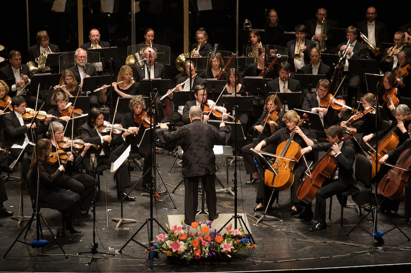 The Vermont Symphony Orchestra performs at Bellows Falls, Oct. 2.
