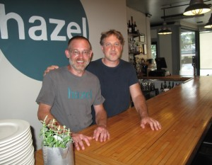 Hazel co-owners Temple Peterson and Nate Rupard.