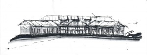A sketch of the possible future home of Inner Fire, by Tom Goldschmid