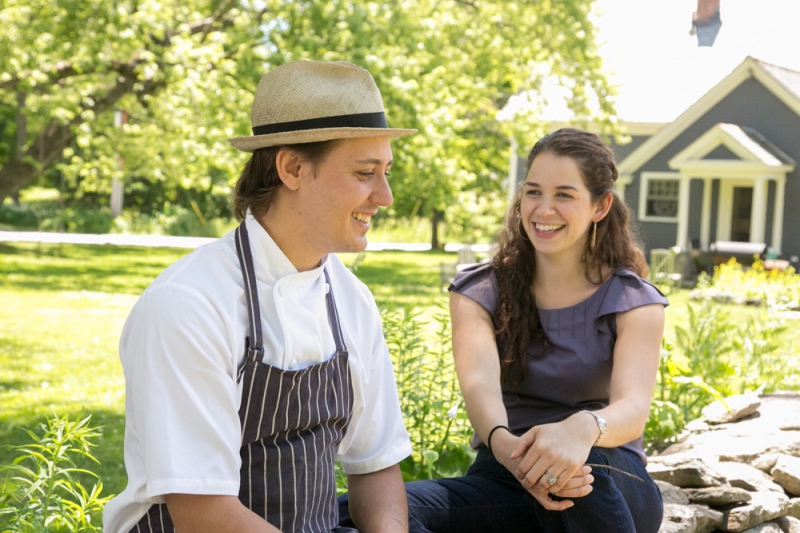 Chloe and Wesley Genovart of SoLo Farm and Table in South Londonderry.