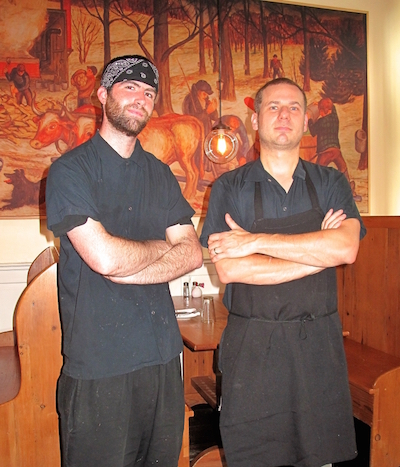 Popolo's chef, Tim Cocheo, right, with sous chef Shawn Dyer, left