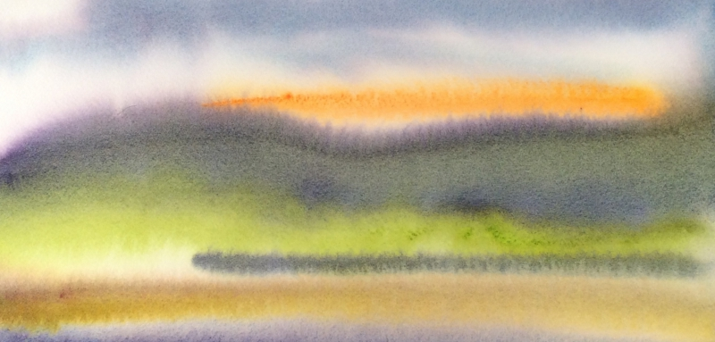 Brian D. Cohen, Untitled (detail), 2015, watercolor, 4 x 7.5 inches; image courtesy the artist and Bridge Press.