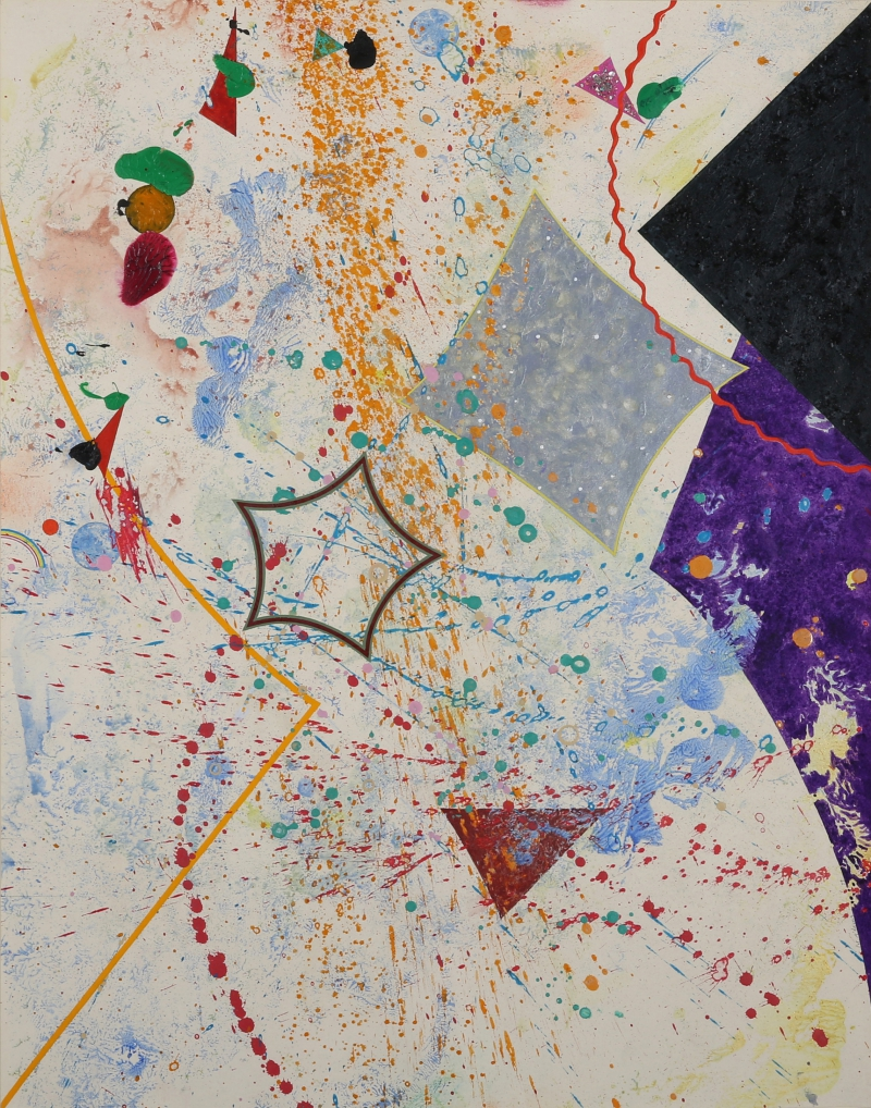"Pat Adams, ""Voicing,"" 1979. Acrylic, charcoal and crushed mica and eggshells on paper, 23.75 x 17.25 inches."