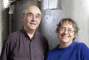 Charles and Kate Dodge, proprietors of Putney Mountain Winery.