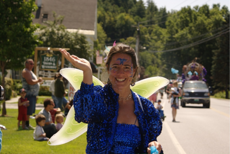 The Deerfield Valley Blueberry Festival and Parade.