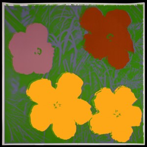 "Andy Warhol (1928-1987), ""Flowers,"" 1970. Color screenprint on paper, 38 x 38 inches."