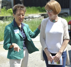 Sara Coffey meeting in 2016 with Jane Chu, chair of the National Endowment for the Arts. Right: Kevin Quigley.